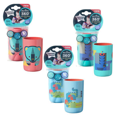 Tommee Tippee Easiflow 360° Beaker Cup 200ml 12m+ Whale, Bear Or Crocodile(A154) • 7.99£