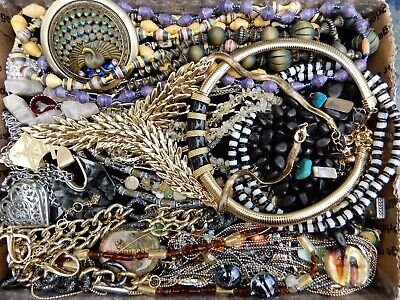 $ CDN34.05 • Buy Vintage Jewelry Lot Necklaces Bracelets Earrings Brooches Cloisonne Egg Italy