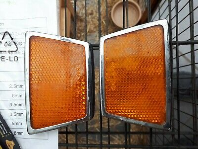 Rover P6 P6B 3500 2000 2200 NADA Wing Fender Reflectors Orange • 20£