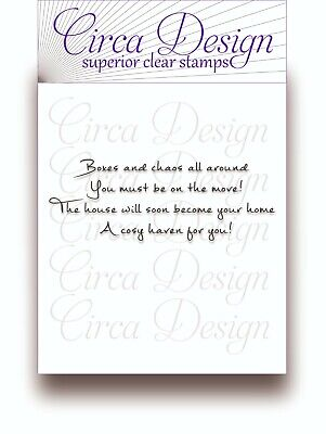 Clear Unmounted Special Occasion New Home Sentiment Verse Rubber Stamp EDVS21 • 4.95£