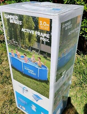 Summer Waves Active Frame 10ft X 30in (3.05m X 76cm) Metal Frame Pool. Brand New • 222.95£