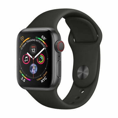 $ CDN409.65 • Buy Apple Watch Series 4 44mm Space Gray Aluminum Case Black Sport Band (MTUW2LL/A)