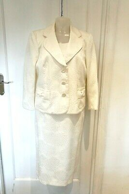 Size 16 Romans Essential Bridal Ivory  Dress And Jacket • 30£