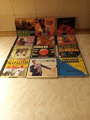 12 X Reggae, Ska, Dub Cds. Trojan, Studio One. Various. Nr Mint Condition. • 21£