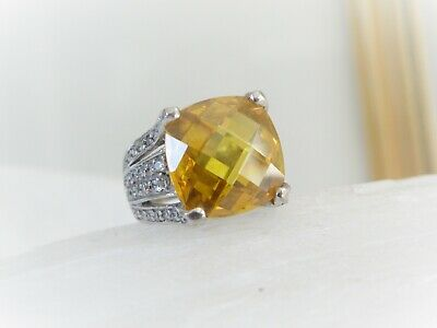 $75.99 • Buy Bella Luce Charles Winston CWE Sterling Silver Large Citrine CZ Ring Size 6