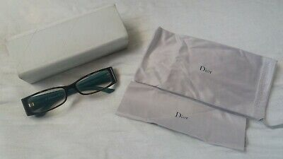 Christian Dior Womens Glasses Tortoiseshell And Teal With Pouch And Case Frames  • 14£