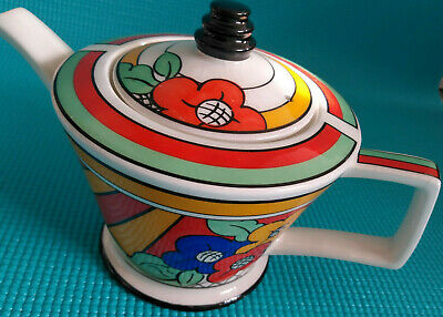Art Deco Bizarre Ware Tea Pot Inspired By Clarice Cliff 1930 Past Times  Damage  • 8.99£