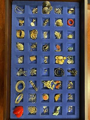 $ CDN163.66 • Buy Vintage Costume Jewelry Lot Rings Earrings Pendants Collection Bakelite