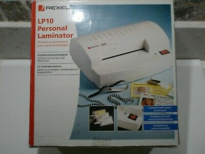 Rexel LP10 Personal Laminator ...Thermal Business ID Cards.. VGC • 9.99£