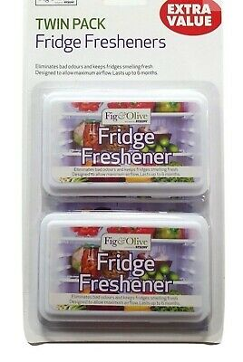 Fridge Freshener Twin Pack Fresh Smell Long Lasting 6 Month Eliminates Bad Odour • 2.99£