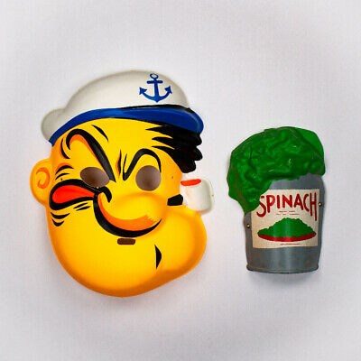 $ CDN240.57 • Buy Vintage Popeye The Sailor Man Collegeville Halloween Mask Spinach Can Olive Oyl