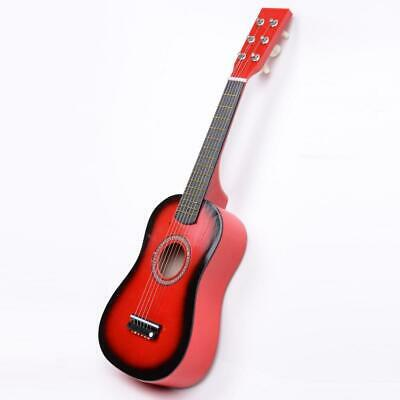 New 23  Plywood 15 Frets Acoustic Guitar Red W/ 6 String For Children Kids • 11.71£