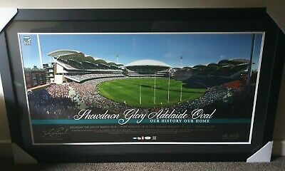 AU280 • Buy Port Adelaide Power Signed 1st Showdown AFL Framed Travis Boak Hinkley Football