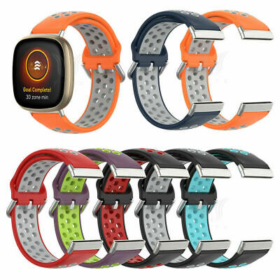 $ CDN7.30 • Buy For Fitbit Versa 3 / Sense Soft Breathable Silicone Watch Band Wrist Sport Strap