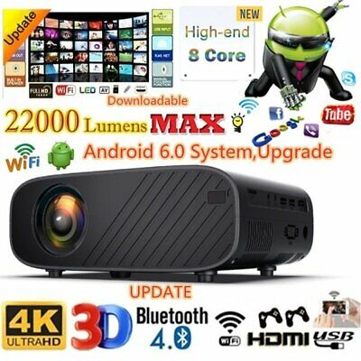 AU188.99 • Buy 1080p Portable Projector Bluetooth Wifi Android 4K Video Theatre Home Cinema USB