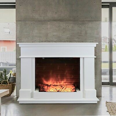 Free Standing Electric Fire Wall Mounted Modern Surround Fireplace Heater Flame • 269.99£