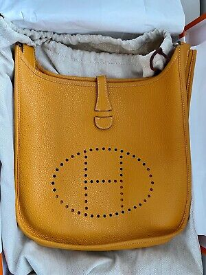 AU2500 • Buy Hermes Evelyne PM In Jaune (curry Yellow)