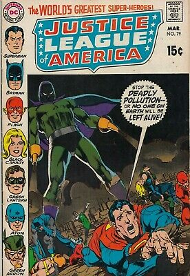AU13 • Buy Justice League America #79  Graded Vg Neal Adams Cover 1970  Dc Comics