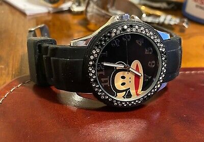 Women's Paul Frank Industries Watch, Monkey Face, Silver Tone With Poly Band • 11.74£