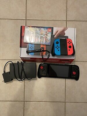 $ CDN234.56 • Buy Nintendo Switch 32GB Gray Console With Neon Red And Neon Blue Joy-Con