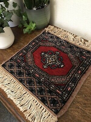 Small Vintage Oriental Rug / Wall Hanging / Mat • 18£