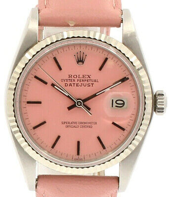 $ CDN7380.37 • Buy Men Vintage ROLEX Oyster Perpetual Datejust 36mm PINK Dial Watch