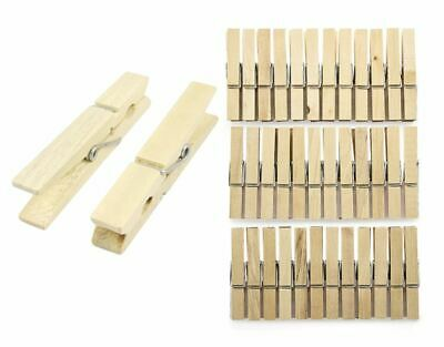 48 Pieces Wooden Clothes Pegs Hanging Clothes Pegs Washing Line Wooden Clips  • 2.89£