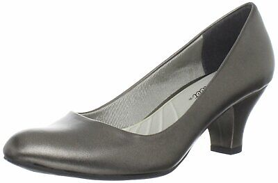 Easy Street Women's Shoes Fabulous Closed Toe Classic Pumps, Pewter, Size 8.0 • 27.99£