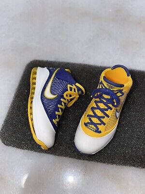 "$101 • Buy 1/6 Custom Lebron James Lakers LeBron 7 ""Media Day"" Shoes ONLY For ENTERBAY"