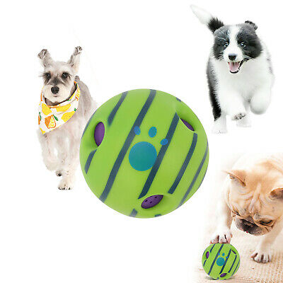 AU17.59 • Buy Wobble Wag Giggle Ball Dog Doggy Indoor Outdoor Pet Toy Rolling Shaken Sound