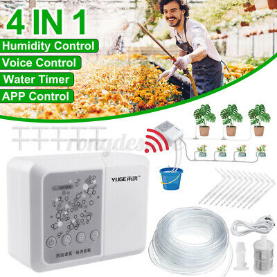 25Pcs Plant Self Watering System Automatic Drip Irrigation Timer Garden WiFi APP • 33.84£