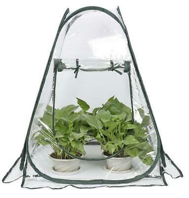 27 X27 X31 Mini Greenhouse Tent Pop Up PVC Grow House Garden Flower Pot Cover • 36.99£