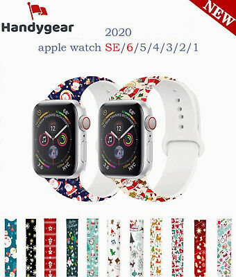 $ CDN13.14 • Buy Compatible With Apple Watch Series 6 5 4 3 2 1 SE Christmas Silicone Band Strap