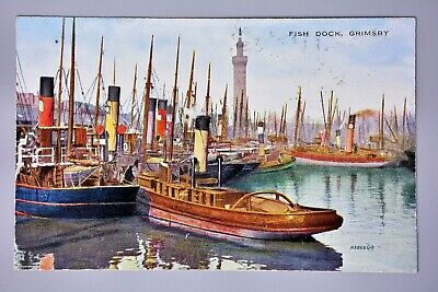 £4.50 • Buy R&L Postcard: Grimsby Fish Dock, Fishing Trawler, Coloured Valentine Valesque