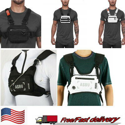 $17.09 • Buy Mens Harness Chest Rig Bag Front Pack Pouch Running Backpack Cell Phone Vest US