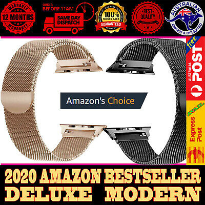 AU5.45 • Buy For Apple Watch Series 6,5,4,3,2,1 Milanese Magnetic Stainless Steel IWatch Band