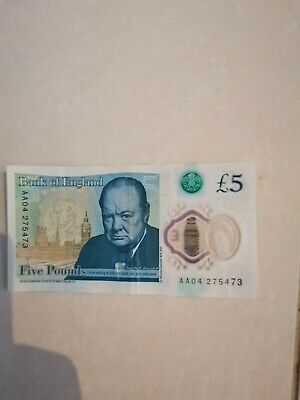 Very Rare 5 Pound Note Low Serial • 100£