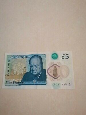 Very Rare 5 Pound Note Low Serial, Collectable  • 100£
