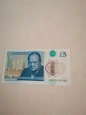 AA07. Very Rare 5 Pound Note, COLLECTABLE  • 2,000£