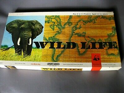 Vintage 1960s WILD LIFE Board Game By Spear's Games • 30£
