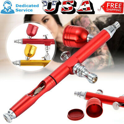 $19.89 • Buy Dual Action Gravity Feed 0.3mm Gun Spray Airbrush Nail Art Paint Tattoo Tool Set