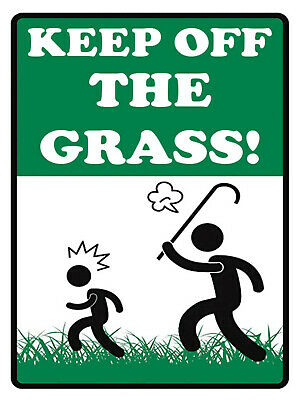 £7.98 • Buy 387 KEEP OFF THE GRASS! Metal Aluminium Plaque Sign For House Garden Gate Path