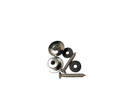 $ CDN7.94 • Buy Chrome Guitar Strap Buttons With Screws And Pads Two End Pin Acoustic Electric
