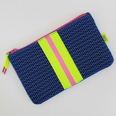 £3.61 • Buy Ipsy Blue Mesh Cosmetic Bag Neon Zippered Make Up Pouch
