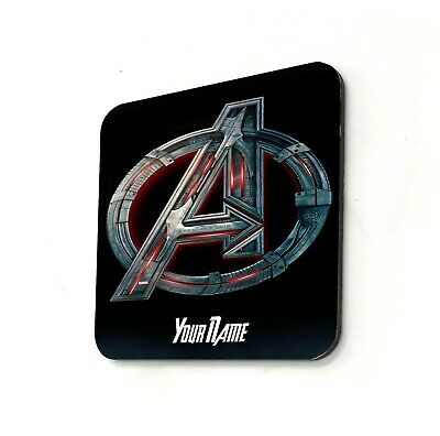 Avengers Logo Marvel Comics Personalised Cup Coaster Gift Present Custom Name • 3.99£