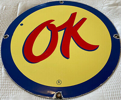 $ CDN27.40 • Buy Vintage Chevrolet Porcelain Service Sign, Gas Station, Pump Plate, Motor Oil