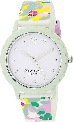 $ CDN60.26 • Buy New Kate Spade New York Morningside Three-Hand Multicolor Silicone Watch KSW1640