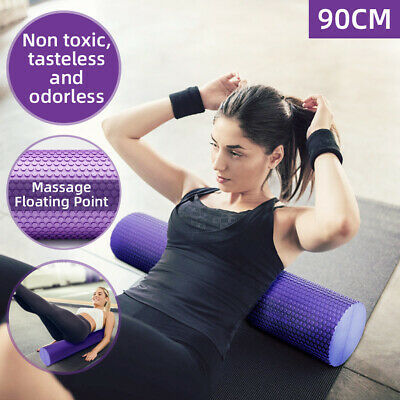 AU29.68 • Buy 90cm Soft EVA PHYSIO FOAM AB ROLLER YOGA PILATES EXERCISE BACK HOME GYM MASSAGE