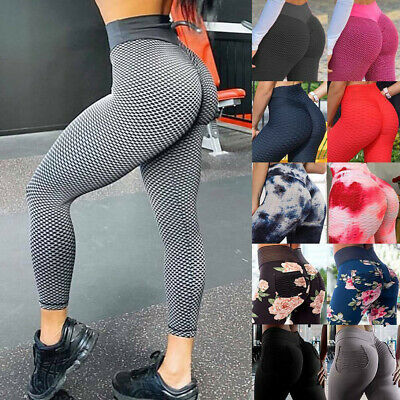 Women High Waist Yoga Pants Anti-Cellulite Leggings Butt Lift Sport Gym Booty W2 • 4.68£