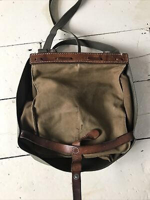 Swiss Army Bread Bag Canvas / Leatherette With Leather Trimmings Shoulder Bag • 26.99£